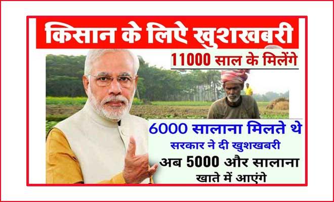 Photo of किसानों के लिए अच्छी खबर पीएम किसान सम्मान निधि (PM-KISAN) के अतिरिक्त हर साल मिलेंगे 5000 रूपये